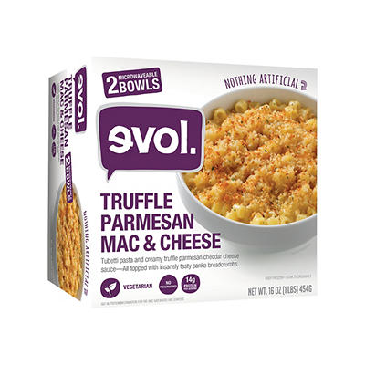 Evol Truffle Parmesan Mac & Cheese, 2 pk./8 oz.