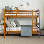 W. Trends Twin-Size Bunk Bed - Honey