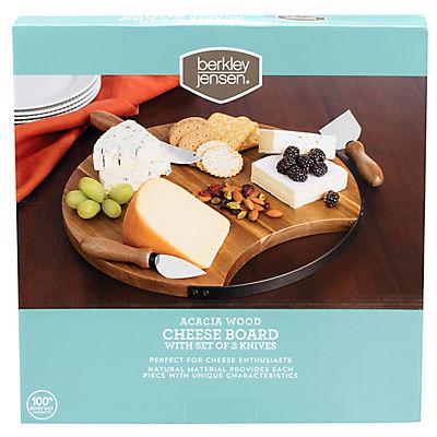 Berkley Jensen Acacia Wood 4-Pc. Cheese Board Set