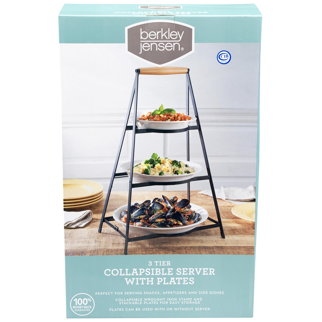 Awe Inspiring Berkley Jensen 3 Tier Collapsible Server With Plates Beutiful Home Inspiration Cosmmahrainfo