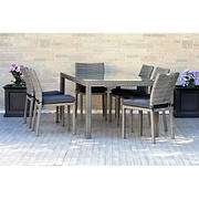Atlantic Panama 7-Pc. Outdoor Dining Set - Gray