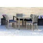 Atlantic Panama 7-Pc. Outdoor Dining Set - Gray/Off-White
