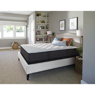 Sealy Response Premium Summer Street Plush King Size Mattress with Whi