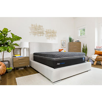 Sealy Premium Silver Chill Plush California King Size Mattress with Bo