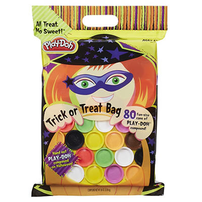 Play-Doh Halloween Bag, 80 Fun-Size Cans