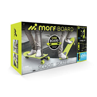 Morfboard Skate/Scoot Bundle with Bonus Morfboard Backpack