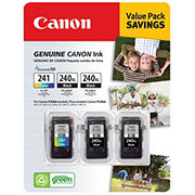 Canon PG-240XL and CL-241 Combo Ink Cartridges, 3 Pack