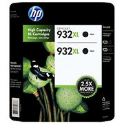 HP 932XL Black Ink Cartridges, 2 pk.