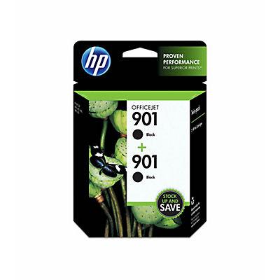 HP 901XL Black Ink Cartridges, 2 pk.