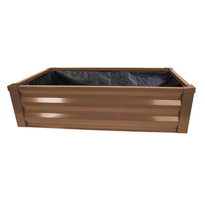 Panacea Raised Metal Bed Planter with Liner - Bronze