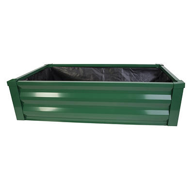 Panacea Raised Metal Bed Planter with Liner - Green