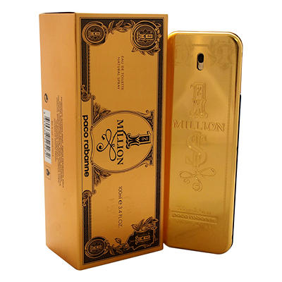 Paco Rabanne 1 Million Eau De Toilette Spray, 3.4 oz.