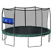 Skywalker Trampolines 16' Oval Trampoline with Enclosure and Toss Game - Green