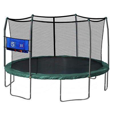 Skywalker Trampolines 16' Oval Trampoline with Enclosure and Toss Game