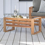 W. Trends Outdoor Arbor Acacia Wood Coffee Table