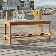 W. Trends Acacia Wood Outdoor Coffee Table - Brown