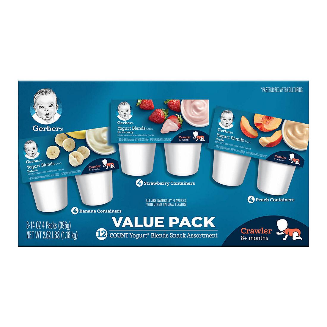 Gerber Yogurt Blends Snack Assortment, 12 pk /3 5 oz
