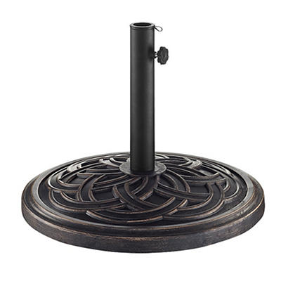 W. Trends Circle Weave Round Umbrella Base - Antique Bronze