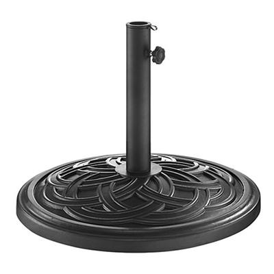 W. Trends Circle Weave Round Umbrella Base - Black