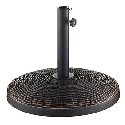 W. Trends Wicker Style Round Umbrella Base - Antique Bronze
