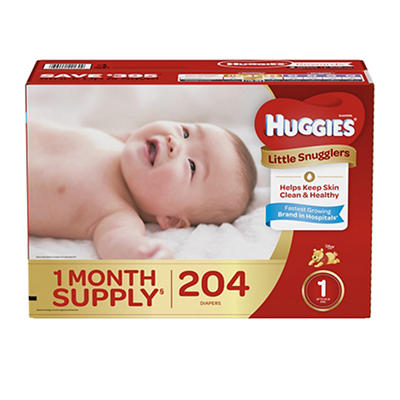 Huggies Little Snugglers Diapers, Size 1, 204 ct.
