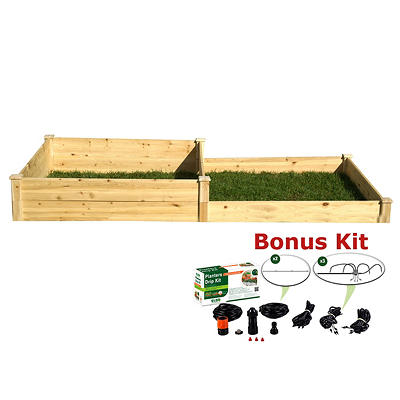 Riverstone Eden 4' x 8' Raised Garden Bed with Bonus Watering Kit - Na