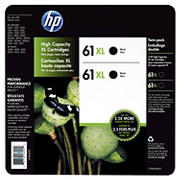 HP 61XL Black Ink Cartridges, 2 pk.