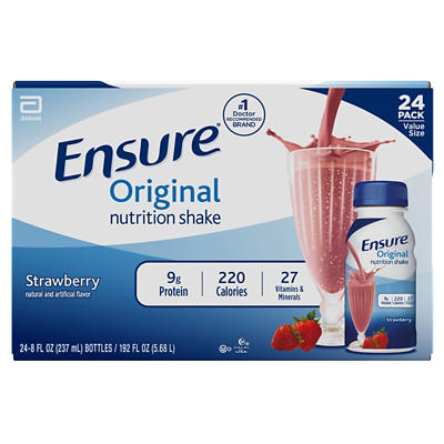 Ensure Original Strawberry Nutrition Shake, 24 pk./8 fl. oz.