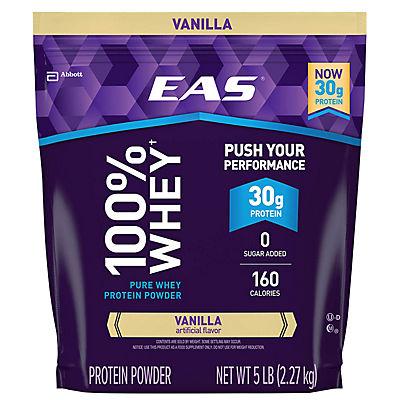 EAS 100% Pure Whey Vanilla Protein Powder, 5 lbs.