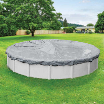Robelle Ultra 24' Aboveground Pool Winter Cover - Dove Gray