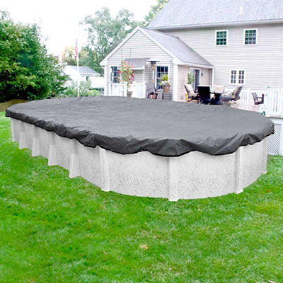 Robelle Ultra 18' x 33' Oval Aboveground Pool Winter Cover - Dove Gray