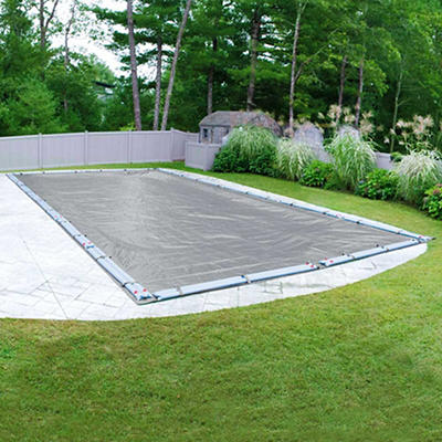 Robelle Ultra 18' x 36' Inground Pool Winter Cover - Dove Gray/Black