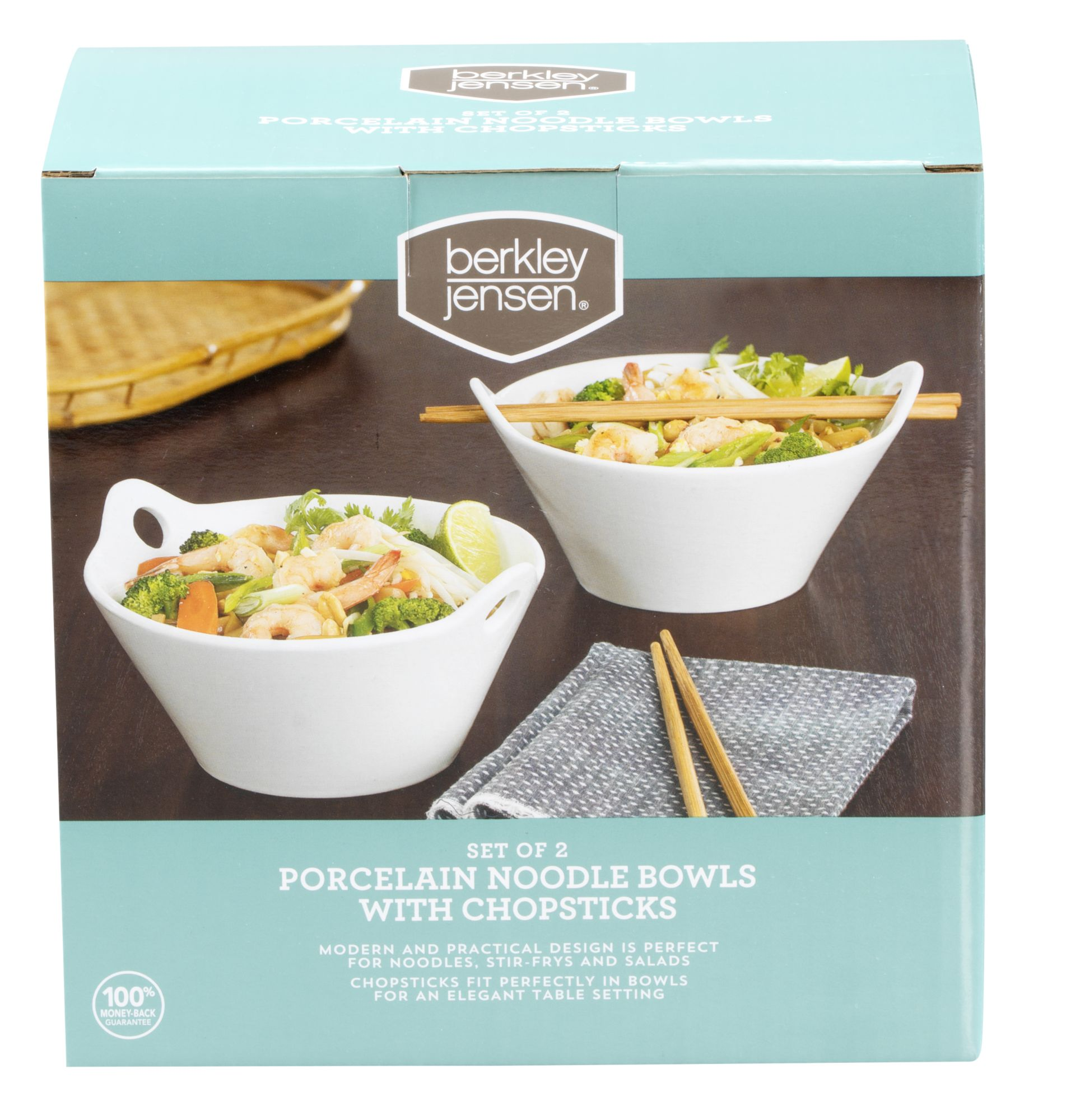 Berkley jensen porcelain noodle bowls with chopsticks pk bjs