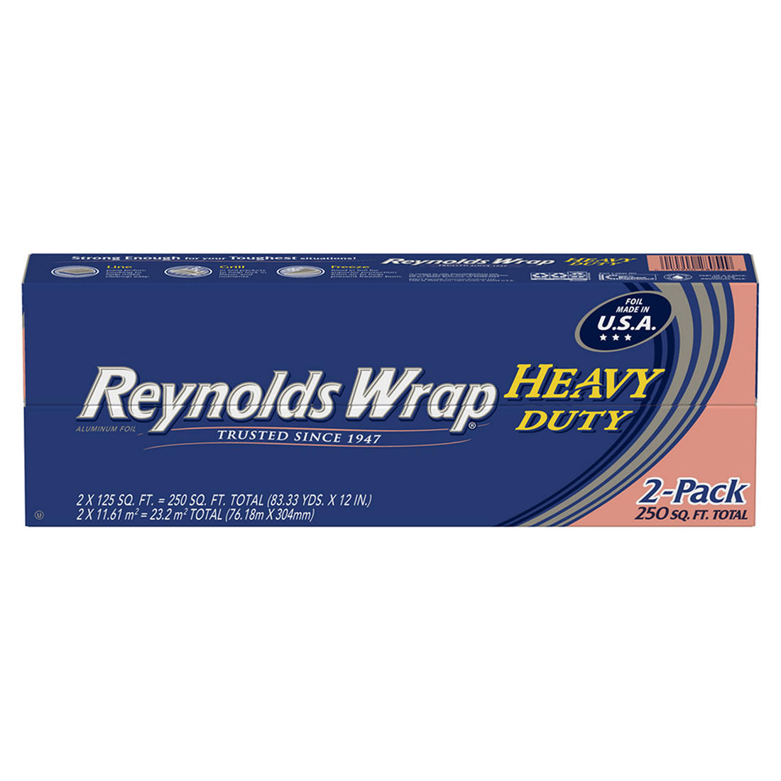 75-Square-Foot Roll, Pack of 1 Reynolds Wrap Heavy Duty Aluminum Foil