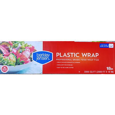 "Berkley Jensen 18"" x 3,000' Plastic Film Wrap - Clear"