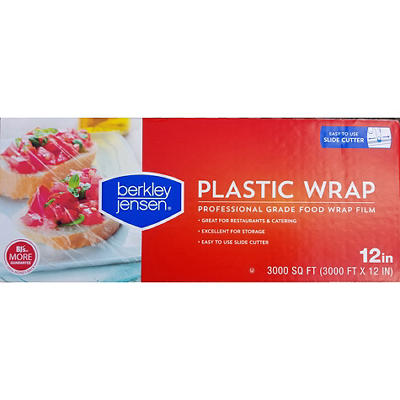 "Berkley Jensen 12"" x 3,000' Plastic Film Wrap - Clear"