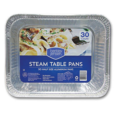 Berkley Jensen Half-Size Steam Table Pans, 30 ct.