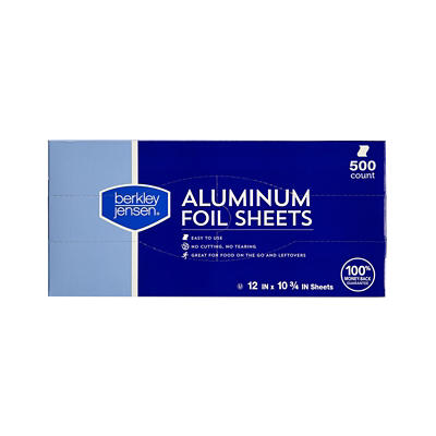 Berkley Jensen Aluminum Foil Sheets, 500 ct.