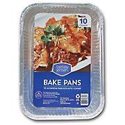 Berkley Jensen Aluminum Bake Pans with Plastic Covers, 10 ct.