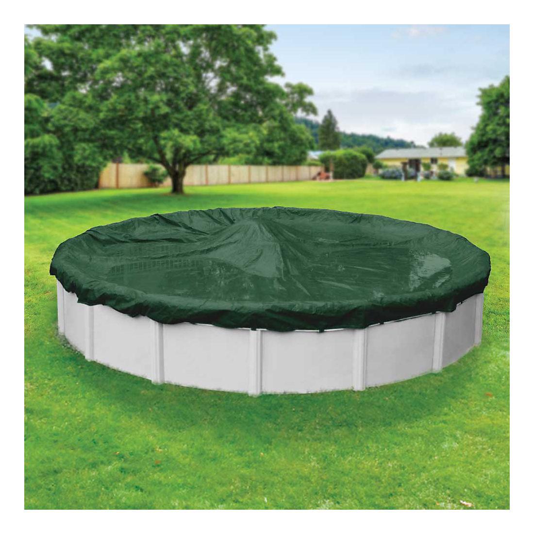 Robelle Dura-Guard 28\' Aboveground Pool Winter Cover - Green