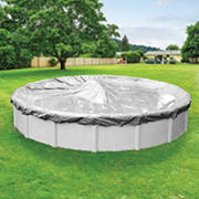 Robelle Platinum 15' Solid Above Ground Pool Winter Cover - Silver/Black