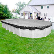 Robelle Platinum 18' x 33' Solid Aboveground Pool Winter Cover - Silver/Black