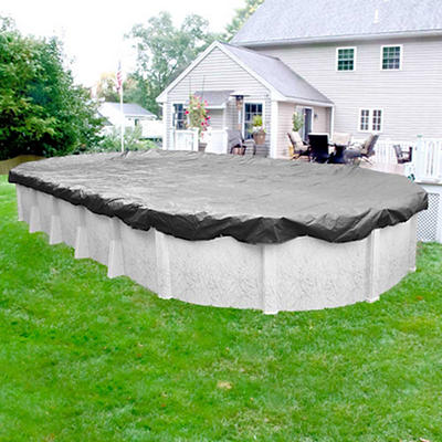 Robelle Platinum 18' x 33' Solid Aboveground Pool Winter Cover - Silve