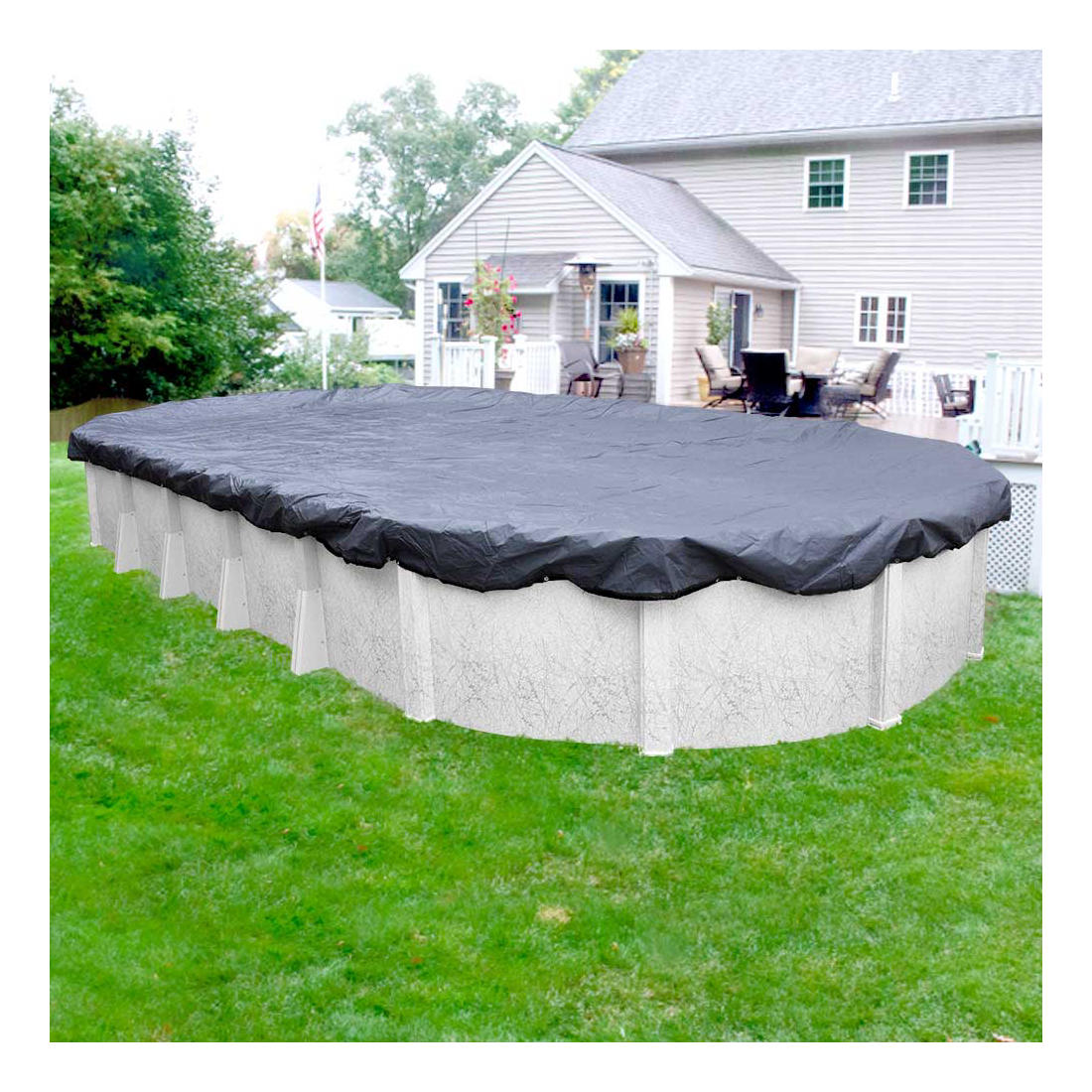 Robelle Premier 12\' x 24\' Oval Aboveground Pool Winter Cover - Slate  Blue/Black