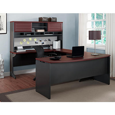 Altra Furniture Pursuit U-Configuration Bridge, Credenza, Hutch and Ex