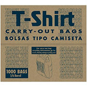 T-Shirt Style .49mil Thank You Carry-Out Bags, 1/6 Barrel, 1,000 ct.