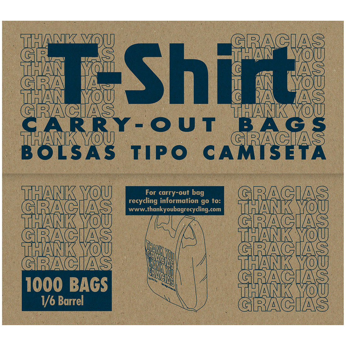 T Shirt Style 49mil Thank You Carry Out Bags 1 6 Barrel 000 Ct