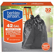 Berkley Jensen 42-Gal. 3mil Heavy Duty Contractor and Industrial Use Bags, 32 ct.