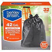 Berkley Jensen 42-Gal. 3mil Heavy Duty Contractor and Industrial Use Bags, 32 ct.