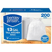 Berkley Jensen 13-Gal. 0.69mL Kitchen Bags, 200 ct.